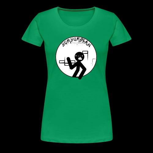 yumyumbean graffiti wall logo - Women's Premium T-Shirt