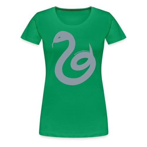 Not Literally Slytherin Logo Large - Women's Premium T-Shirt