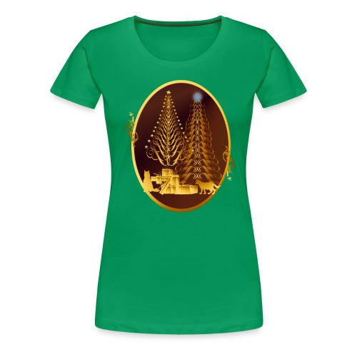 Golden Presents-Gold Kitties - Women's Premium T-Shirt