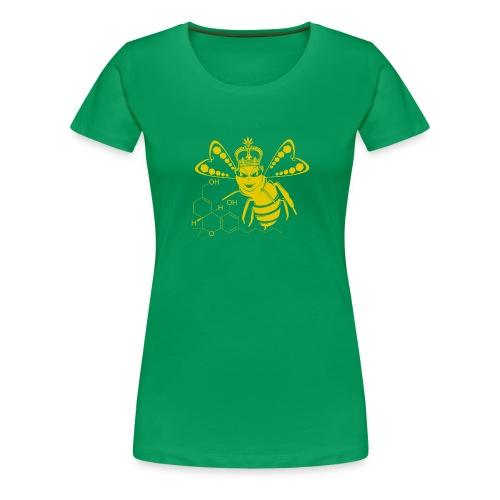 11HydroxyCompoud FemaleBee Shirt Gold Final 01 - Women's Premium T-Shirt