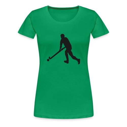 FieldHockeyMaleSilhouette - Women's Premium T-Shirt