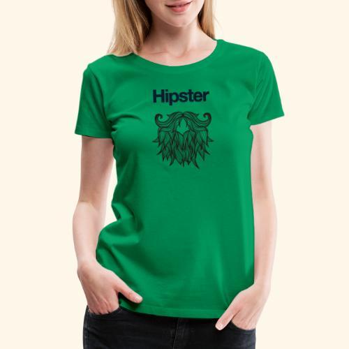 Hipster Beard - Women's Premium T-Shirt