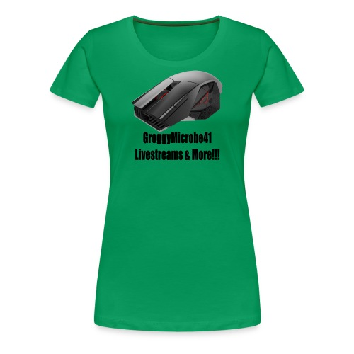 Groggy Microbe Mouse Logo - Women's Premium T-Shirt