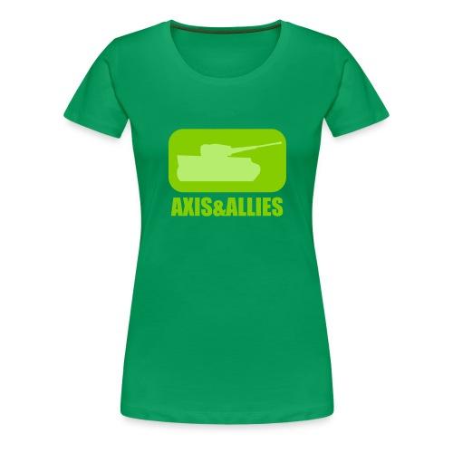 Axis & Allies Tank Logo - Dark - Women's Premium T-Shirt