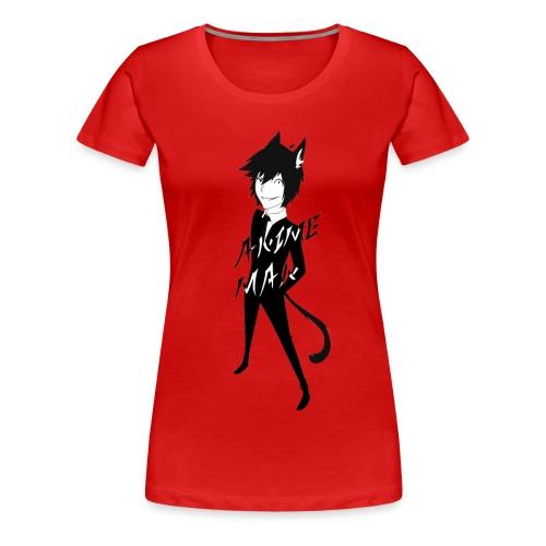 Monochrome Anime Man - Women's Premium T-Shirt