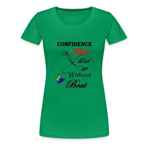 With or Without Beat SpilledPaint- Asphalt - Women's Premium T-Shirt