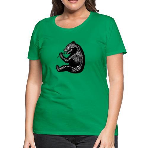 Skeleton Panda - Women's Premium T-Shirt
