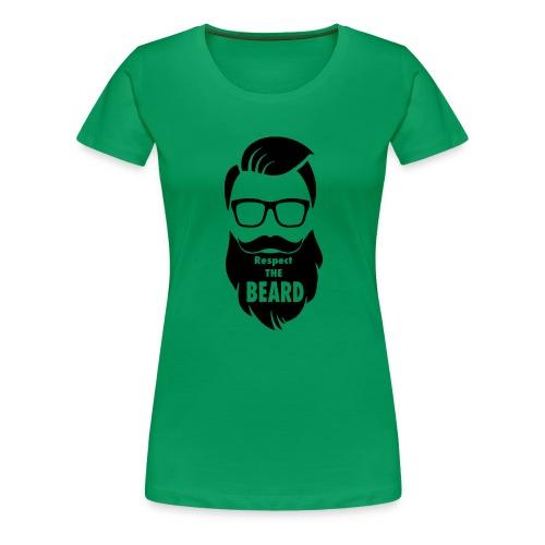 Respect the beard 08 - Women's Premium T-Shirt