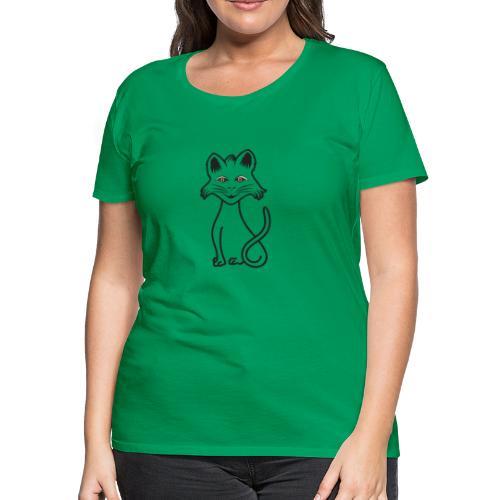 stylized black cat - Women's Premium T-Shirt