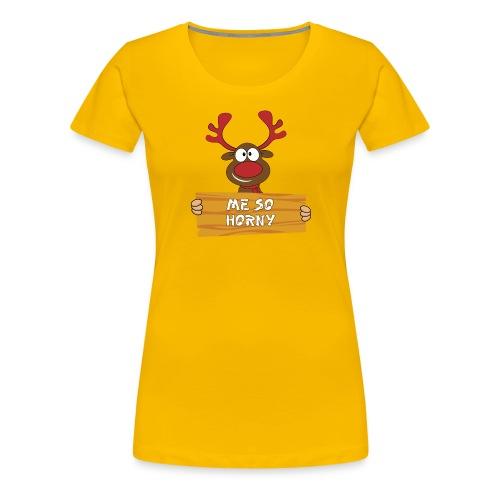 Red Christmas Horny Reindeer 3 - Women's Premium T-Shirt