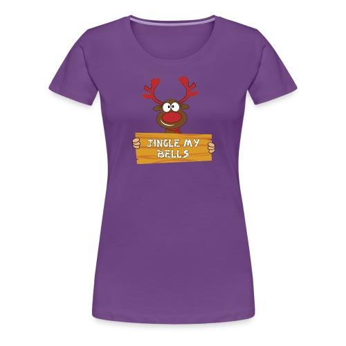 Red Christmas Horny Reindeer 1 - Women's Premium T-Shirt