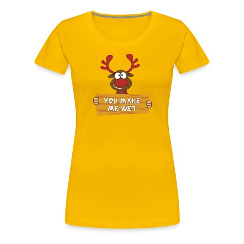 Red Christmas Horny Reindeer 2 - Women's Premium T-Shirt