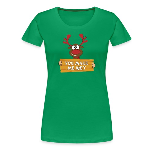Red Christmas Horny Reindeer 2 - Women's Premium T-Shirt