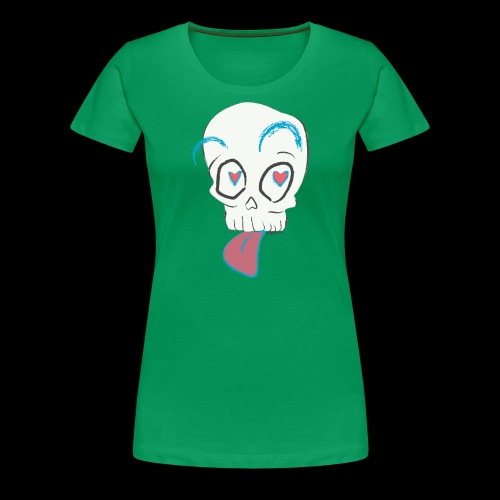 Pull out the tongue skull - Women's Premium T-Shirt
