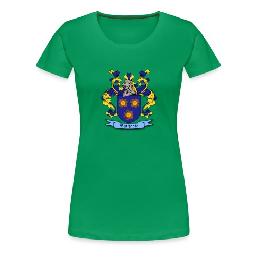 Bathgate Family Crest - Women's Premium T-Shirt
