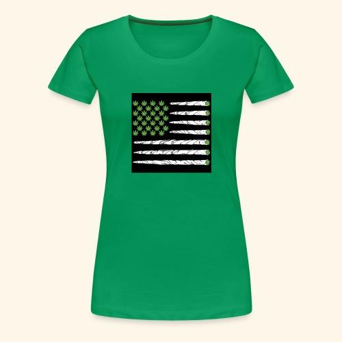 Weed American flag - Women's Premium T-Shirt