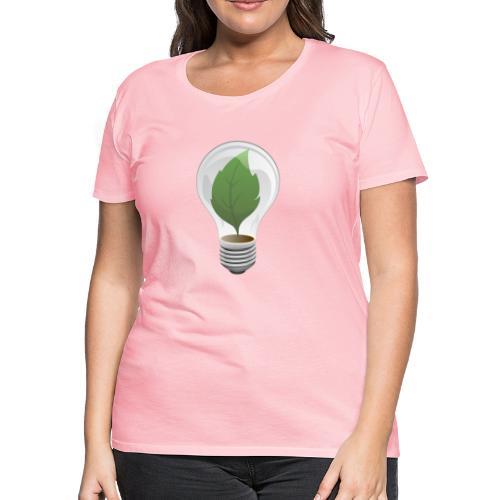 Clean Energy Green Leaf Illustration - Women's Premium T-Shirt