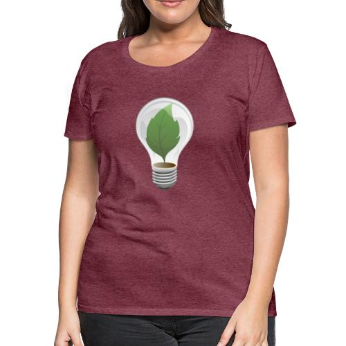 Clean Energy Green Leaf Illustration - Women's Premium T-Shirt