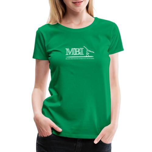 White MBI Sketch Logo - Women's Premium T-Shirt