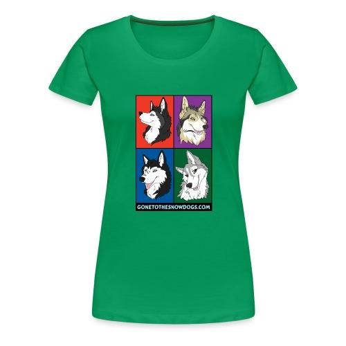 The Husky Girls - Women's Premium T-Shirt