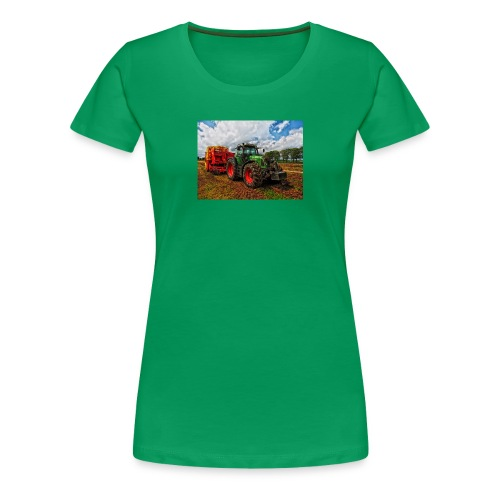 Tractor on a farm! - Women's Premium T-Shirt