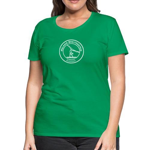 White Circle Logo - Women's Premium T-Shirt
