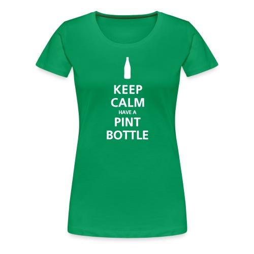 Keep Calm Pint Bottle - Women's Premium T-Shirt