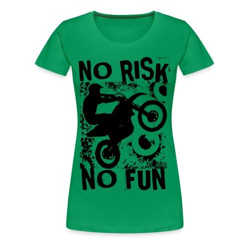 Motocross No Risk No Fun - Women's Premium T-Shirt