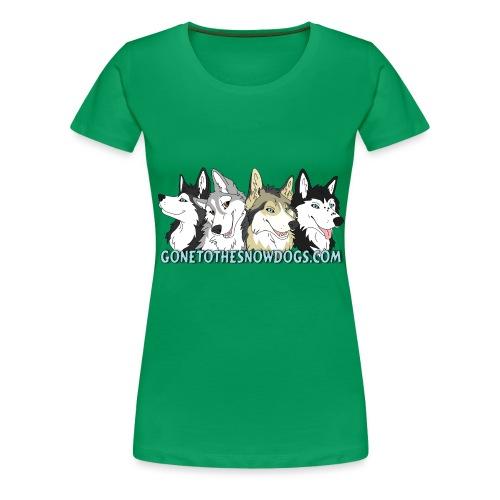 Siberian Husky Snow Dogs - Women's Premium T-Shirt