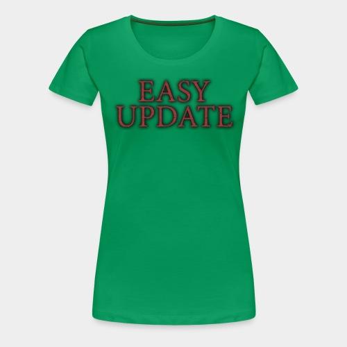 Easy Update Logo Red - Women's Premium T-Shirt