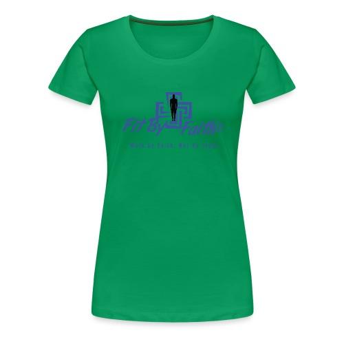 FitbyFaith back png - Women's Premium T-Shirt