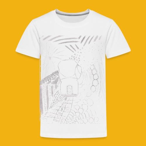 Messy Zentangle Boxing glove (TCOU) - Toddler Premium T-Shirt