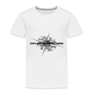 ExploreYourGreatness black logo - Toddler Premium T-Shirt