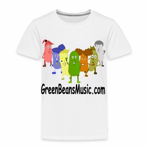 Green Bean's Music Apparel Black Logo - Toddler Premium T-Shirt