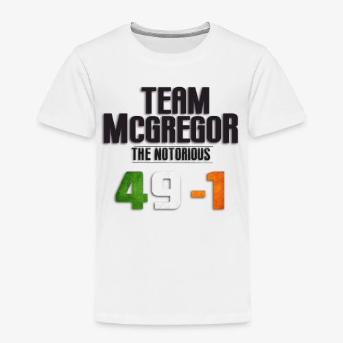 McGregor vs Mayweather: Team McGregor 49-1 - Toddler Premium T-Shirt
