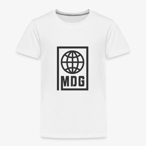 MDG Globe Concept - Black - Toddler Premium T-Shirt