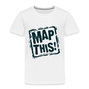MapThis! Black Stamp Logo - Toddler Premium T-Shirt