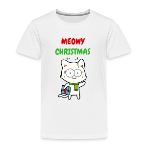 MEOWY CHRISTMAS HOLIDAY CAT - Toddler Premium T-Shirt