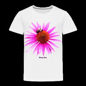 Bee on a pink - orange flower - Toddler Premium T-Shirt