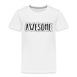 Awesome BLACK - Toddler Premium T-Shirt