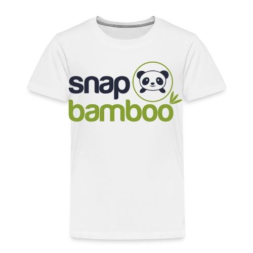 Snap Bamboo Square Logo Branded - Toddler Premium T-Shirt