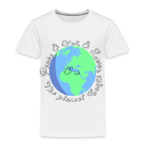 Peace and war and love on the planet earth - Toddler Premium T-Shirt