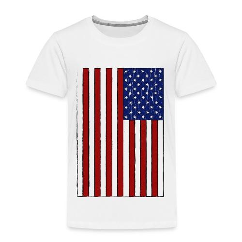 USA Flag (Distressed) - Toddler Premium T-Shirt