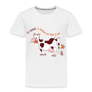 On Saturday hapiness is in the field - Toddler Premium T-Shirt
