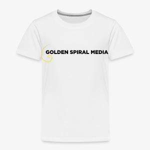 Golden Spiral Media Black Logo - Toddler Premium T-Shirt