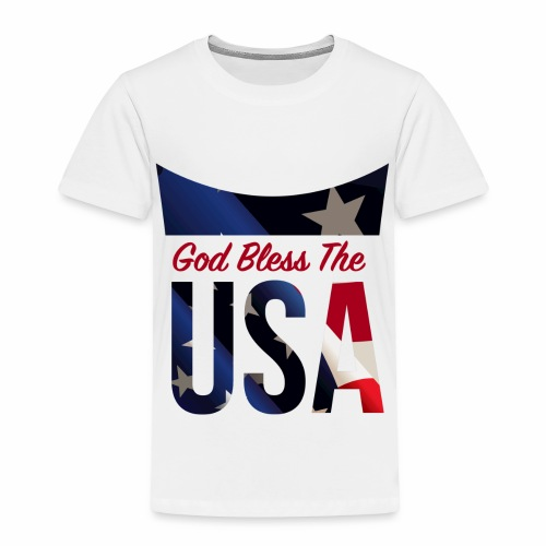 God Bless The USA Veterans T-Shirts - Toddler Premium T-Shirt