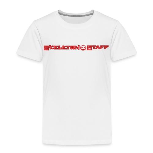 SKELETON STAFF WHITE SHIRT - Toddler Premium T-Shirt