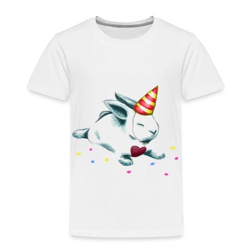 Birthday Bunny (or Unicorn Bunny) - Toddler Premium T-Shirt