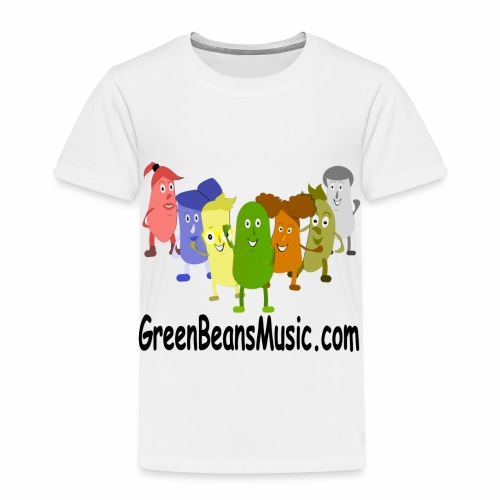 Green Bean's Music Apparel Black Logo - Toddler Premium T-Shirt