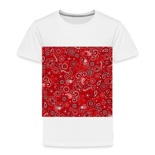 Red bandana square box - Toddler Premium T-Shirt